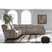 Ashley Pittsfield 4 pc. Power Reclining Sectional RAF Loveseat/Chair/LAF Recliner