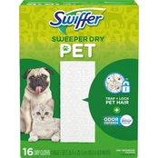 Swiffer Sweeper Pet Dry Sweeping Cloths with Febreze Odor Defense 16 ct.
