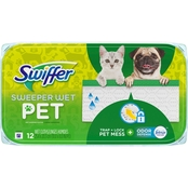 Swiffer Sweeper Wet Pet Mopping Cloths with Febreze Odor Defense 12 ct.
