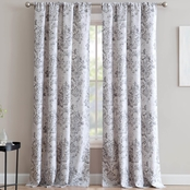 1888 Mills An Damask Single Window Curtain Panel with Rod Pocket 50 x 84 in.