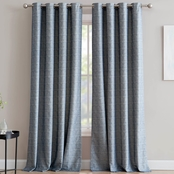 1888 Mills Madison Chenille Textured Jacquard Single Window Curtain Panel 50x84 in.