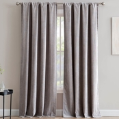 1888 Mills Isla Corduroy Single Window Curtain Panel with Rod Pocket
