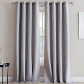 1888 Mills Mei Textured Jacquard Single Window Curtain Panel with Metal Grommets