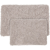Lavish Home Memory Foam Shag Bath Mat 2 pc. Set