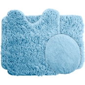 Lavish Home Super Plush Non Slip Bath Mat Rug 3 pc. Set