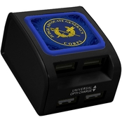 QuikVolt JAG Corps WP400X 4 Port USB Wall Charger, Black