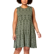 Style & Co. Plus Size Printed Trapeze Dress