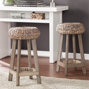 Southern Enterprises Rutina Round 24 in. Counter Stool 2 pk.