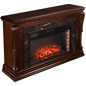 Southern Enterprises Stone Creek Carved Fireplace