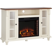 Southern Enterprises Carlinville Fireplace Media Stand