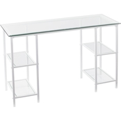 Southern Enterprises Aiden Metal/Glass Desk