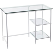 Southern Enterprises Layton Metal/Glass Desk