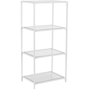 Southern Enterprises Prescott 4 Tier Bookshelf