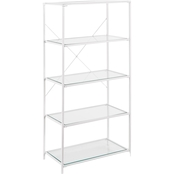 Southern Enterprises Prescott 5 Tier Bookshelf