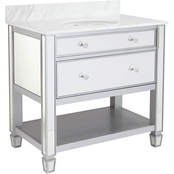 Southern Enterprises Mirage Bath Vanity Sink Console
