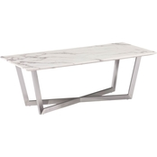 Southern Enterprises Faux Marble Cocktail Table