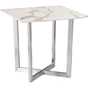 Southern Enterprises Faux Marble End Table