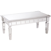 Southern Enterprises Glenview Mirrored Cocktail Table