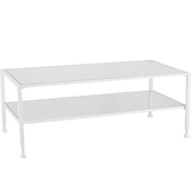 Southern Enterprises Metal and Glass Open Shelf Cocktail Table