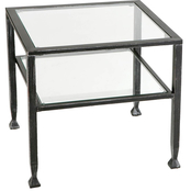 Southern Enterprises Metal and Glass Bunching Cocktail Table