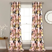 Lush Decor Floral Watercolor Room Darkening 84 x 52 Curtain Panel 2 pk.