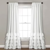 Lush Decor Allison Ruffle 84 x 40 Curtain Panel 2 pk.