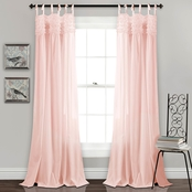 Lush Decor Lydia Ruffle 84 x 40 Curtain Panel 2 pk.