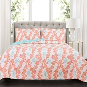 Lush Decor Dina Coral 3 pc. Quilt Set