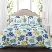 Lush Decor Coastal Reef 3 pc. Quilt Set