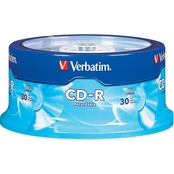 Verbatim CD-R 700MB 52X Branded Surface Spindle 30 pk.