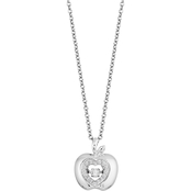 Disney Enchanted Sterling Silver 1/10 CTW Diamond Snow White Apple Pendant