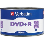 Verbatim DVD+R 4.7GB 16X Branded Surface 50 pk.