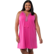 Cherokee Plus Size Embroidered Knit Dress