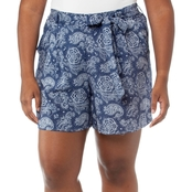 Cherokee Plus Size Allover Print Fashion Shorts