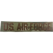 Embroidered Air Force OCP Branch Tape With Velcro Standard 5 in
