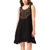 Style & Co. Petite Cotton Embroidered A Line Dress