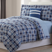 Simply Perfect Complete Bedding Set, Sketched Plaid