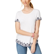 Charter Club Cotton Embroidered Top