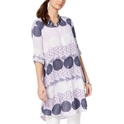 Alfani Printed Tunic Shirt