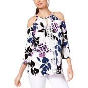 Alfani Cold Shoulder Top