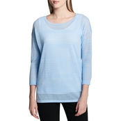 Calvin Klein Sheer Detail Pullover Sweater