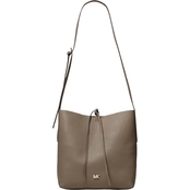 Michael Kors Junie Leather Large Messenger Bag