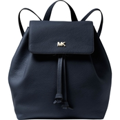 Michael Kors Junie Leather Medium Flap Backpack