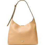 Michael Kors Junie Leather Medium Hobo Handbag