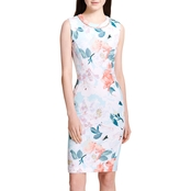 Calvin Klein Pearl Neck Printed Dress