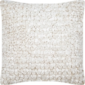 CHESAPEAKE MICROCHENILLE WHITE PILLOW 58028 (18''X18'')
