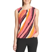 Calvin Klein Collection Asymmetrical Stripe Top