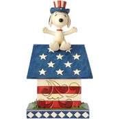 Enesco Peanuts by Jim Shore Snoopy Patriotic Doghouse Figurine