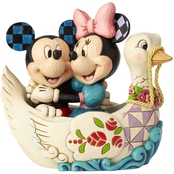 Enesco Disney Traditions Mickey and Minnie in Swan Boat Figurine
