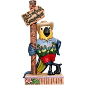 Enesco Margaritaville by Jim Shore Parrot by Sign Post Figurine